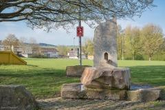 Brunnenanlage beim Aufgang zum Schulareal, gegenüber Chüechligasse 11/13.